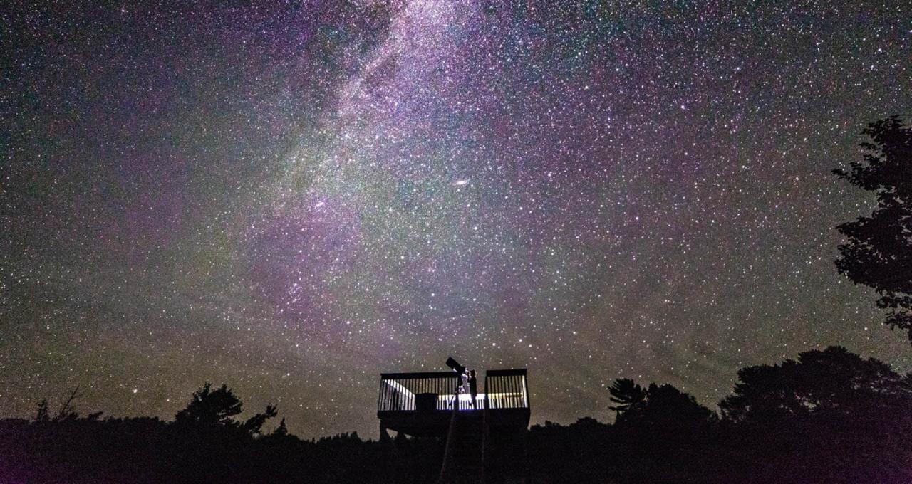 Stargazing of the night sky