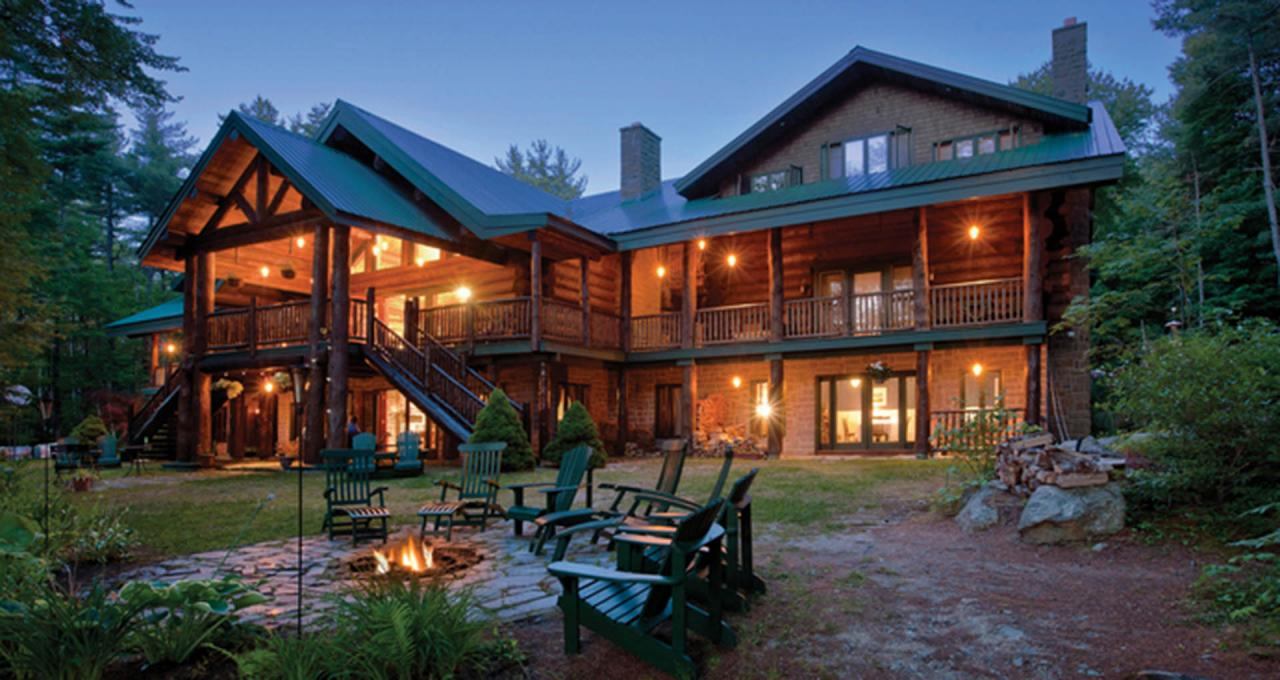 Trout Point Lodge at sunset