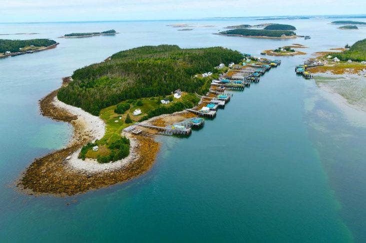 Overhead view of the Tusket Islands