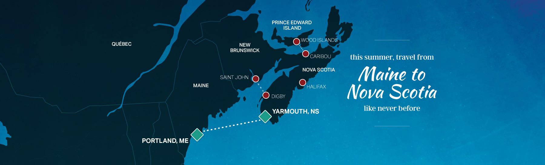 maine to nova scotia map
