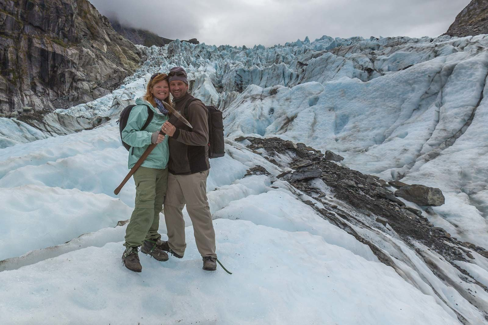 adventure travel couple dave and deb in New Zealand