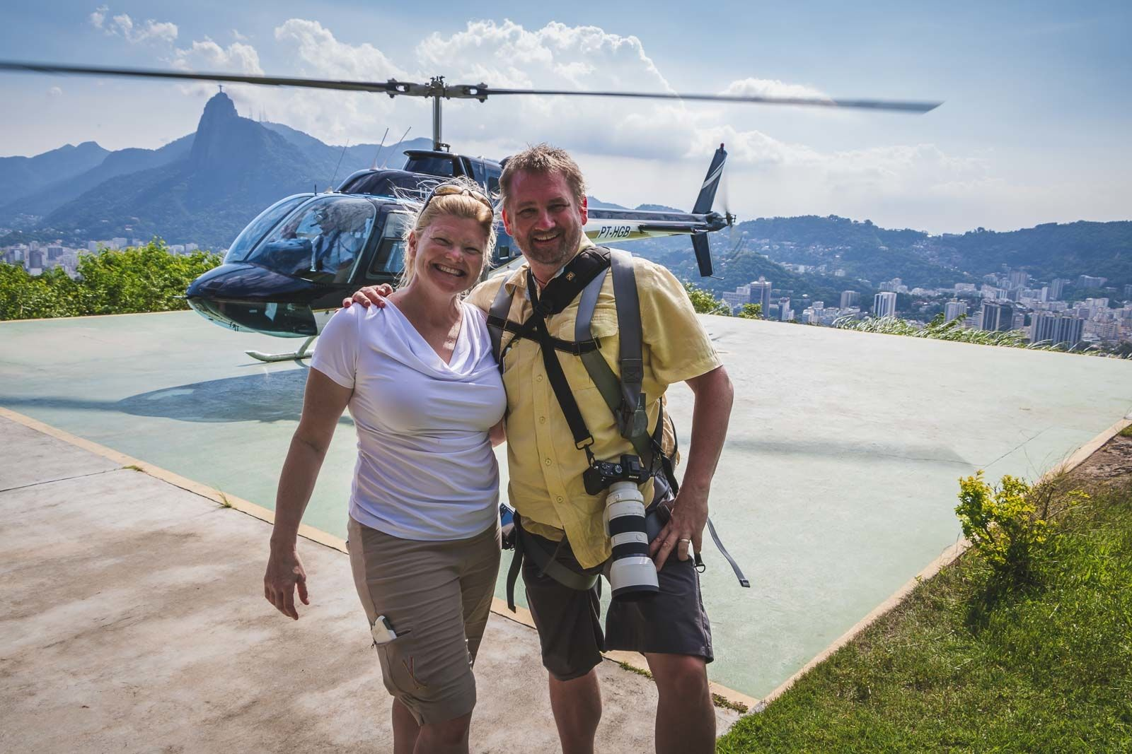 travel couple dave and deb in Rio