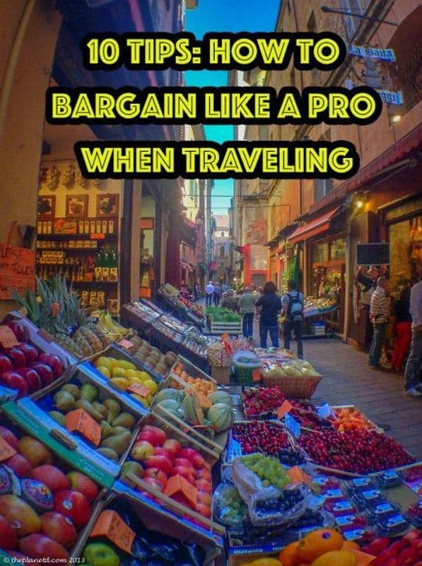 bargain like a pro when traveling