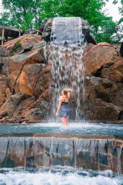 nordik spa ottawa waterfall