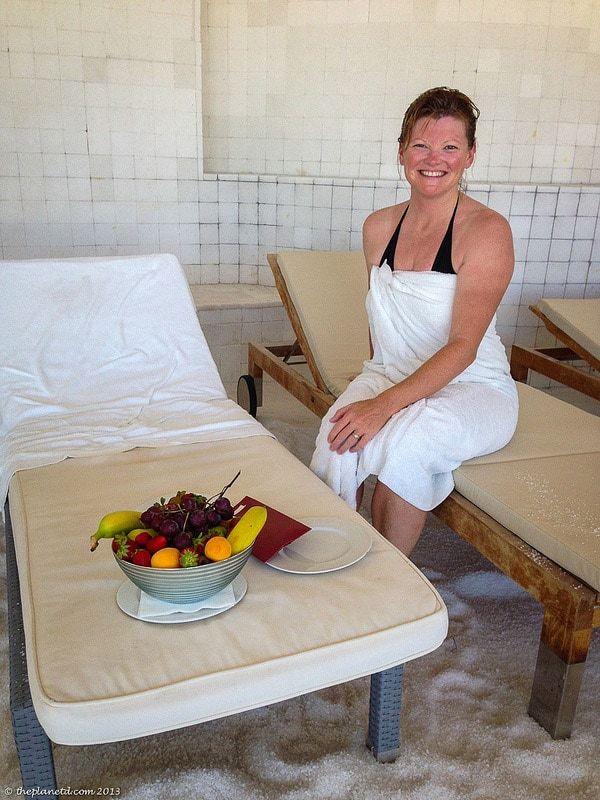 spa etiquette after the massage