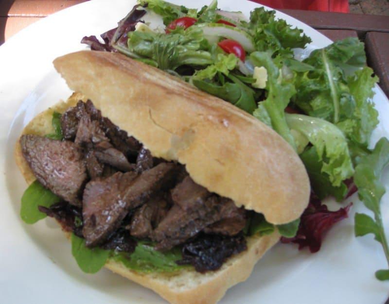 travel for food - ostrich sandwich