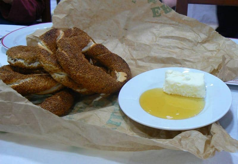 why you should travel for food - simit in Turkey