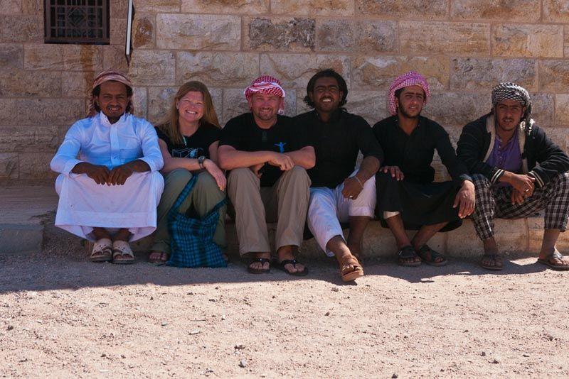 meeting people at Wadi Rum Jordan