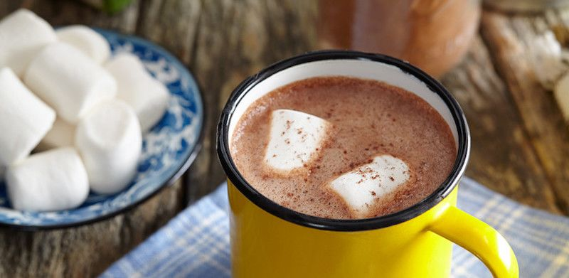 tips sleeping in the cold hot chocolate